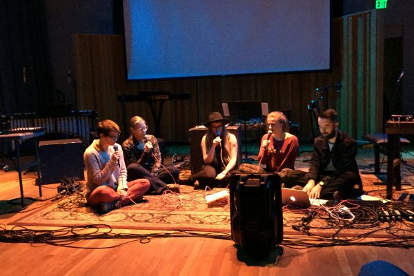 Hums and drones performance at the Fall 2015 ESP Night Concert