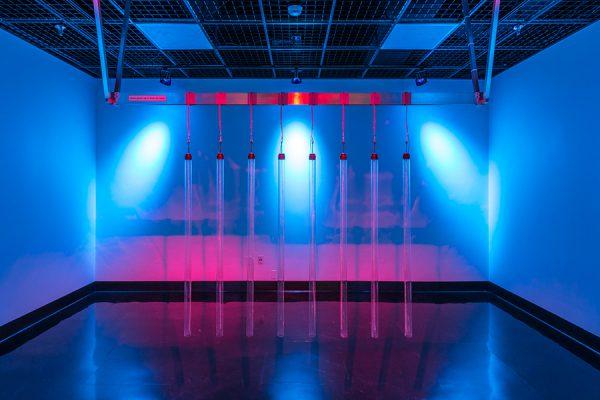 Cooper Baker's Noctiluca Scintillans installation in the WaveCave gallery, September 2014